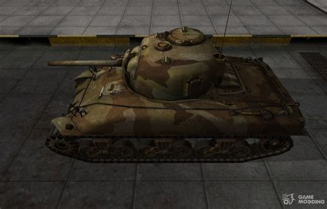 the skin for the american m4 sherman tank for world of tanks