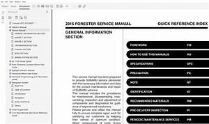 2015 Subaru Forester Repair Manual