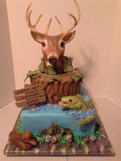 hunting birthday cakes ideas  pinterest