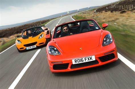 Porsche 718 Boxster S Vs Lotus Elise Sports Cars Compared