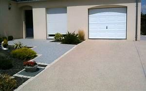 descente de garage en beton desactive en mayenne With faire une entree de garage