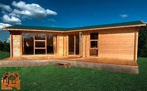Chalet En Bois Habitable Livré Monté : chalet en bois mod le volvic 48 m avec terrasse de 18 m ~ Dailycaller-alerts.com Idées de Décoration