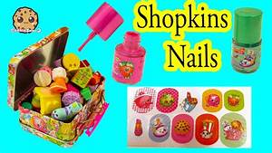 shopkins nail painting sticker kit with tin for