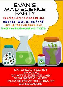 Mad Science Party Games, Ideas, Invitations, and party ...