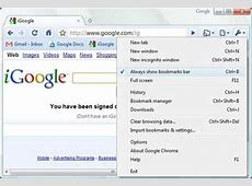 Creating a bookmark button in Google Chrome Modern Street