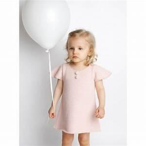 les tricots de mamy robe enfant bebe fille rose pastel With robe blanche bébé fille