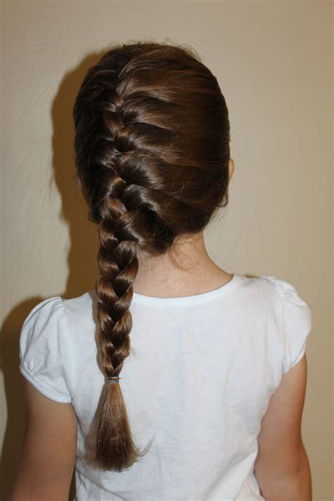 hairstyles  girls  wright hair side french braid