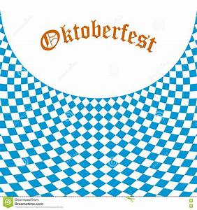 Oktoberfest Bavarian Flag Symbol Background Stock Vector ...