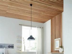 comment realiser un plafond en tasseaux leroy merlin With comment decorer un plafond