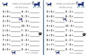 maths worksheets for 7 year olds addition and subtraction with pete the cat free worksheets homeschool den