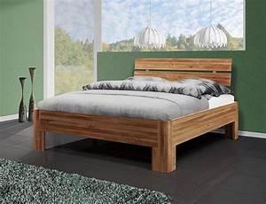 Bett Massivholz 90x200 : bett 90x200 einzelbett holzbett massiv wildeiche ge lt ~ Indierocktalk.com Haus und Dekorationen