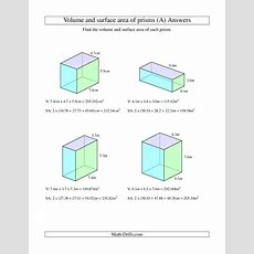 Volume And Surface Area Of Rectangular Prisms With Decimal Numbers (a