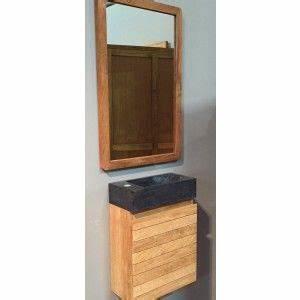 meuble salle de bain en teck naturel protege mini lave With porte d entrée pvc avec meuble vasque salle de bain 75 cm