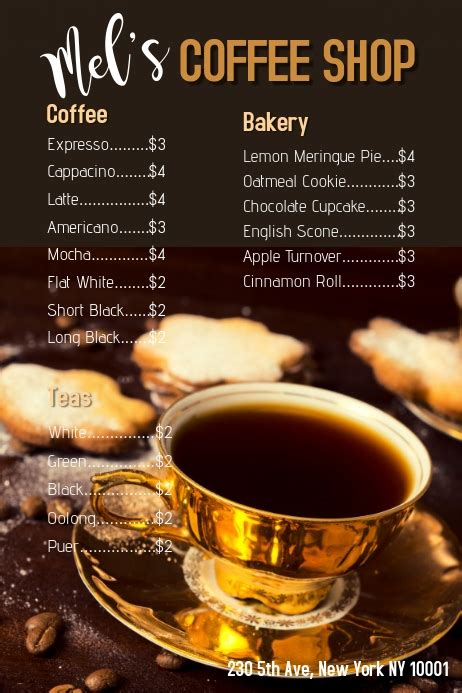 As our valued customers, experience designers at kofi are here to help assist, suggest ideas and. Copy of Coffee Shop Menu Template   PosterMyWall