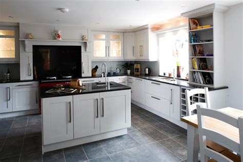 white cabinets gray floor shaker grey 278 | transitional kitchen