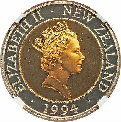 Zealand Cents 1994 Fifty Coin Maklouf Gold
