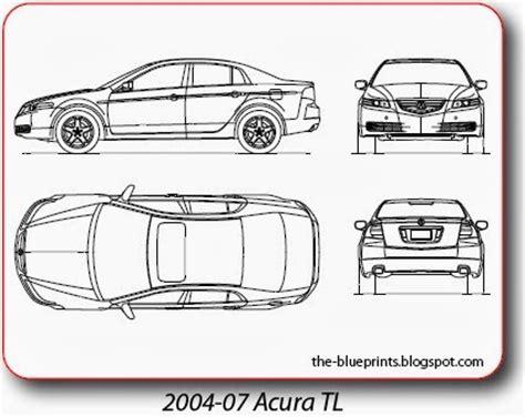 vector blueprints cars trucks busses   acura