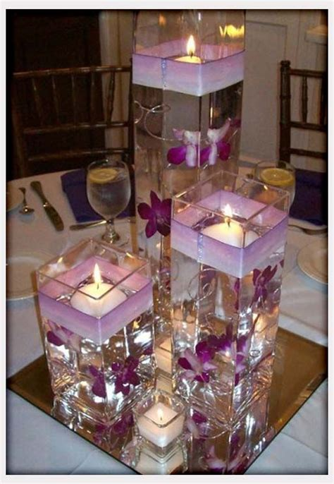 purple wedding centerpieces  pinterest inexpensive