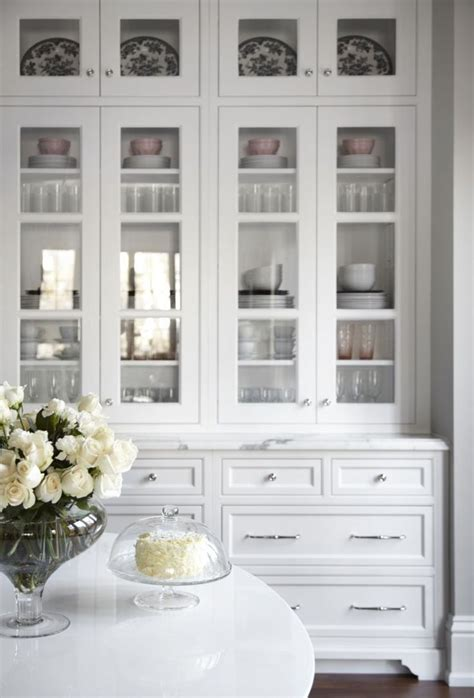 Kitchen Cabinets With Glasses by Beautiful White Kitchen Inset Cabinets Glass Doors Marke
