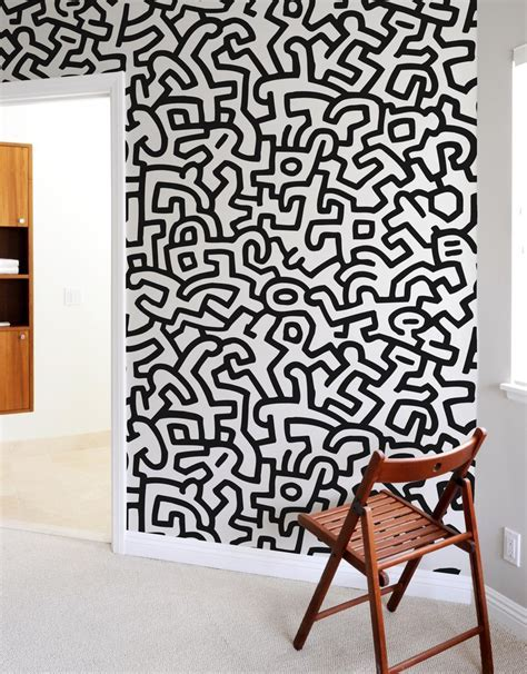 Fresque Murale PopShop Keith Haring   Stickers Muraux
