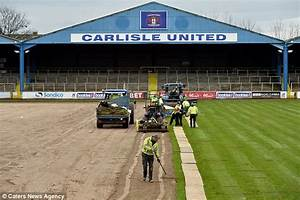 Carlisle United get £150,000 new pitch laid after floods ...