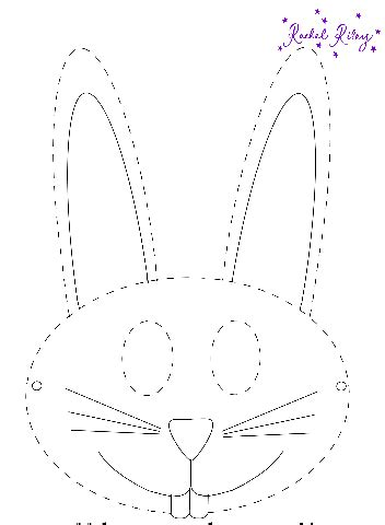 printable easter bunny mask printables  mom