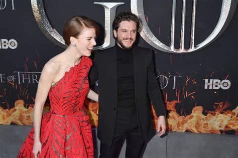 Kit Harington Rose Leslie at Game of Thrones Premiere 2019 ...