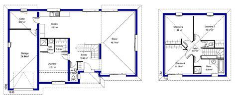 plan maison plain pied 4 chambres alissia contemporaine maisons lara