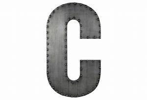 small aluminum letter c design gray products and metals With metal letter c