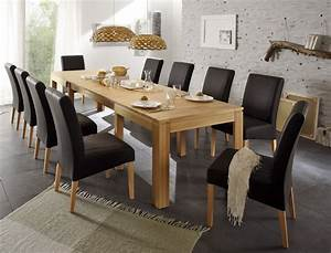 Tischgruppe kernbuche tisch ausziehbar allround 10 for Kernbuche tisch ausziehbar