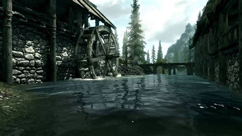 Wallpapers Hd 1080p by Live Wallpaper Skyrim River 1080p