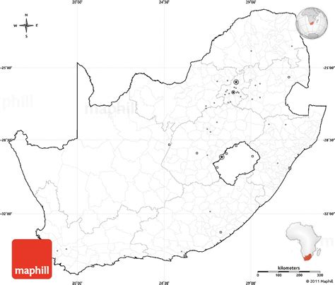 printable map  south africa printable  degree