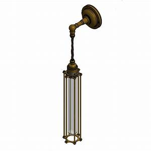 Pendant lighting long cord : Long bulb cage wall pendant lamp