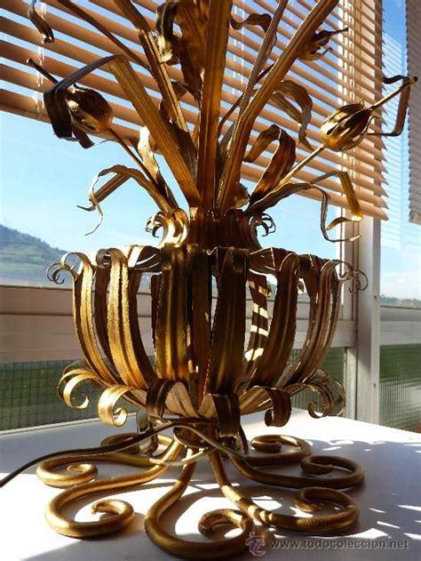 lampara sobremesa forja espanola anos  design ferro