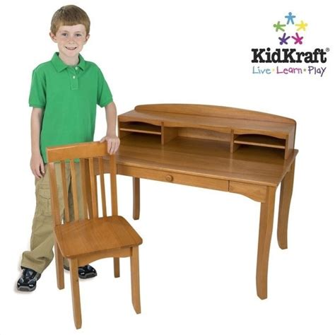 kidkraft avalon desk and chair kidkraft avalon kids desk with hutch and chair in honey