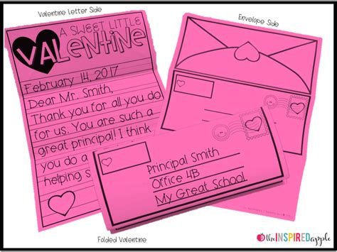 valentines day writing activity  inspired apple