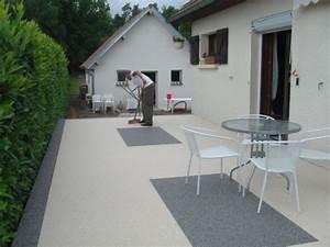 Resine Pour Terrasse Beton Exterieur : resine terrasse exterieur cheap resine granulat de marbre ~ Edinachiropracticcenter.com Idées de Décoration