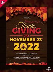 Make Poster Online Free Printable Download Thanksgiving Flyer Free Psd Psddaddy Com