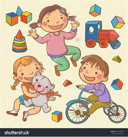 Toys Sharing Clipart Children Illustration Books Vector