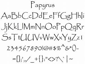 font alphabet styles february 2012 With papyrus letters