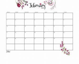 February 2020 Calendar Printable With Holidays Printable February 2020 Calendar Calendar 2019