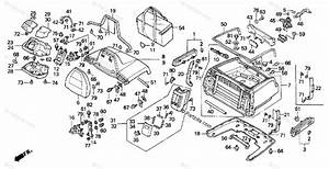 Honda Motorcycle 2000 Oem Parts Diagram For Trunk Box