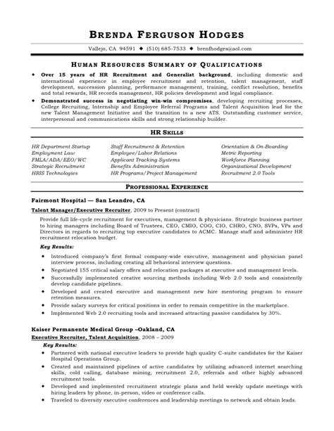 Talent Acquisition Specialist Resume by Professional Talent Acquisition Manager Templates To Professional Talent Acquisition Specialist