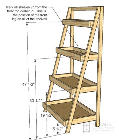 Ladder Bookcase Plans white painter s ladder shelf diy projects