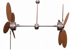 Dual outdoor ceiling fans lighting and