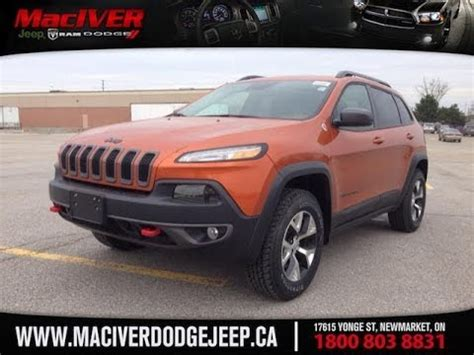 orange jeep cherokee trailhawk newmarket ontario