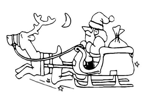 bilde  fargelegge julenisse med slede bil
