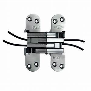 soss 218 power transfer invisible hinge satin chrome With soss 218 template