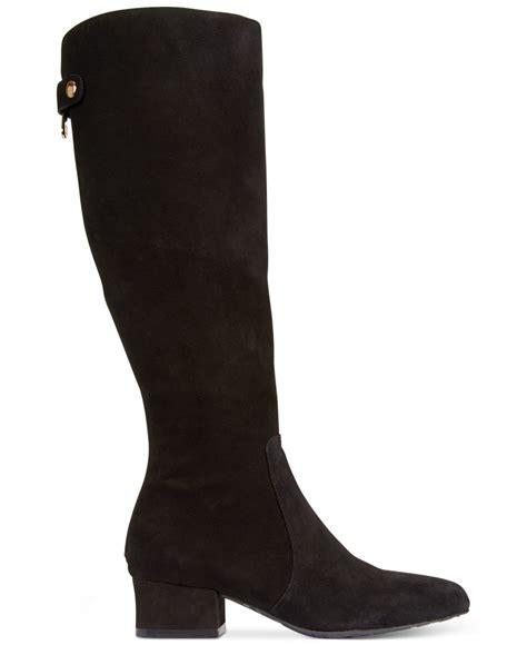 designer wide calf boots klein camden wide calf dress boots in black lyst
