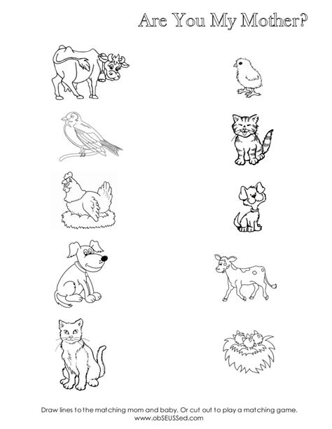 Are You My Mother Worksheet  Scribd  Lesson Activities  Pinterest  Preschool, Worksheets And